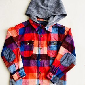 OshKosh Hooded Flannel Shirt